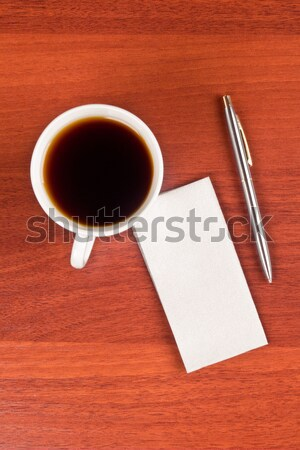 Cup of coffee and napkin Stock photo © a2bb5s