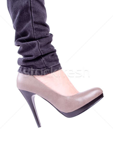 Women's leg in brown shoes Stock photo © a2bb5s
