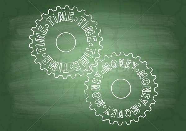 передач школы доске деньги технологий зеленый Сток-фото © a2bb5s