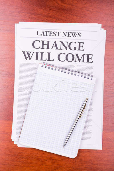 The newspaper CHANGE WILL COME Stock photo © a2bb5s