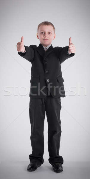 Erkek iş takım elbise siyah gençlik gömlek Stok fotoğraf © a2bb5s