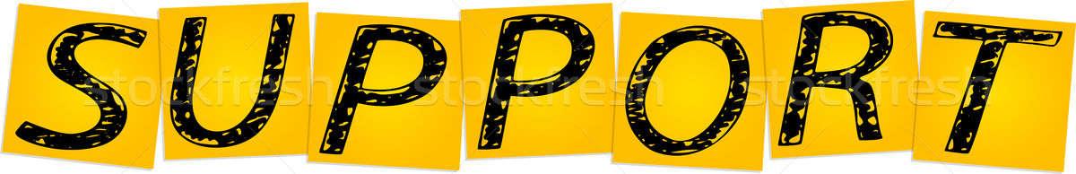 Apoiar amarelo praça adesivos projeto Foto stock © a2bb5s
