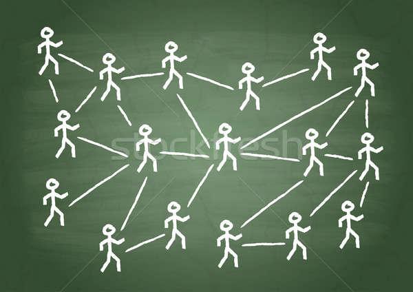 человека отношения люди зеленый школы совета Сток-фото © a2bb5s