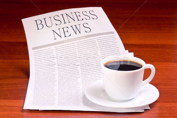 Newspaper and cup of coffee Stock photo © a2bb5s