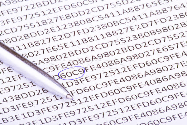 Abstract hexadecimal code and pen Stock photo © a2bb5s