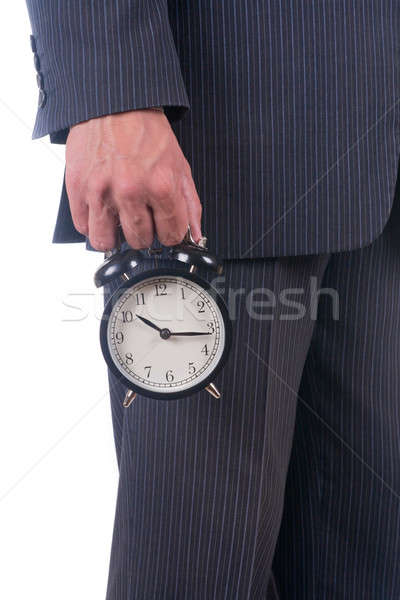Alarm clock in a hand Stock photo © a2bb5s
