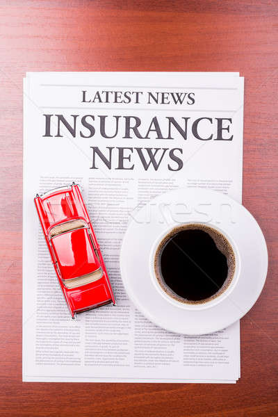 The newspaper  INSURANCE NEWS and auto Stock photo © a2bb5s