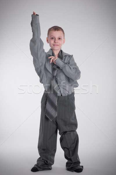 Menino grande camisas grande negócio terno Foto stock © a2bb5s