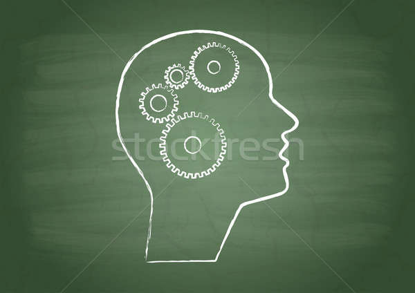 Gears in human head Stock photo © a2bb5s