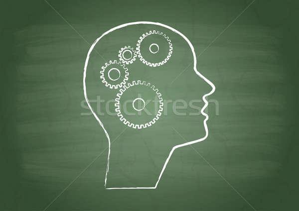 передач человека голову зеленый школы совета Сток-фото © a2bb5s