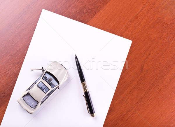 Car & pen Stock photo © a2bb5s