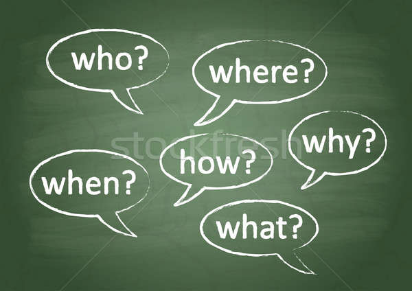 Okul tahta soru altı sorular yeşil Stok fotoğraf © a2bb5s
