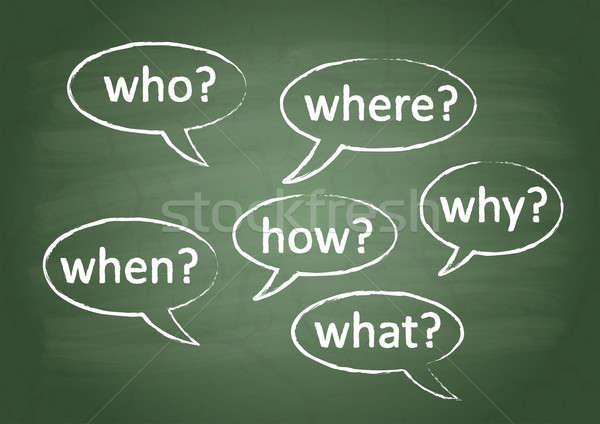 School board 6 question Stock photo © a2bb5s