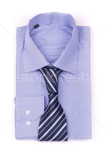 Blue shirt with a tie Stock photo © a2bb5s
