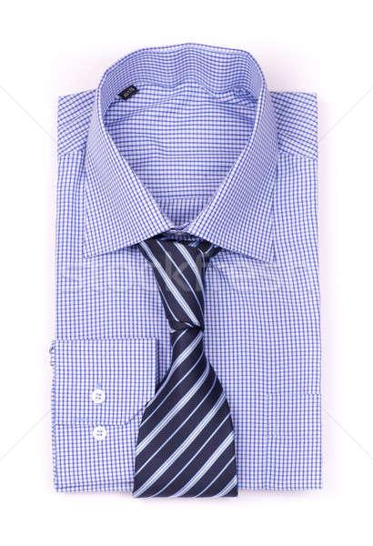 Mavi gömlek kravat üst görmek yalıtılmış Stok fotoğraf © a2bb5s