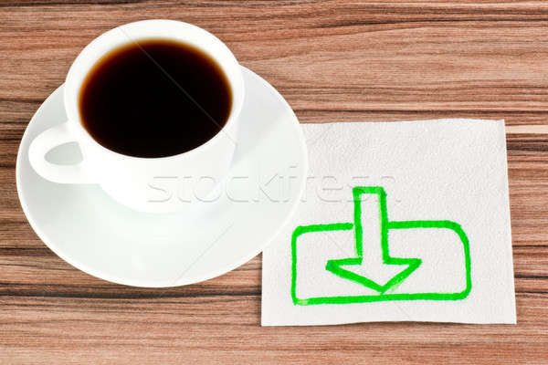 The sign of loading on a napkin Stock photo © a2bb5s