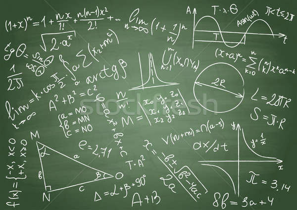 Matemático fórmulas verde escolas conselho trabalhar Foto stock © a2bb5s