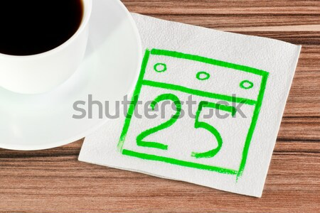 Diagram on a napkin Stock photo © a2bb5s