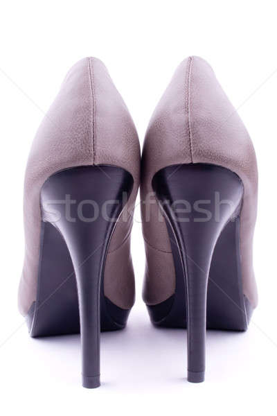 Pair women's shoes back view Stock photo © a2bb5s