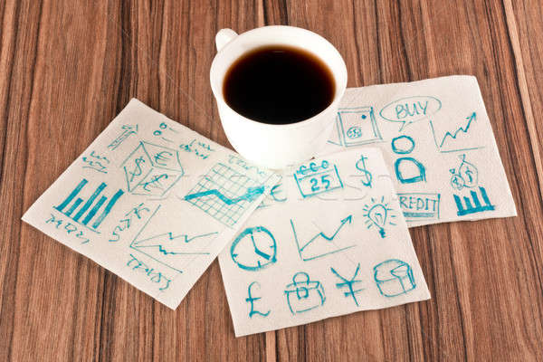 Business signs on a napkin Stock photo © a2bb5s