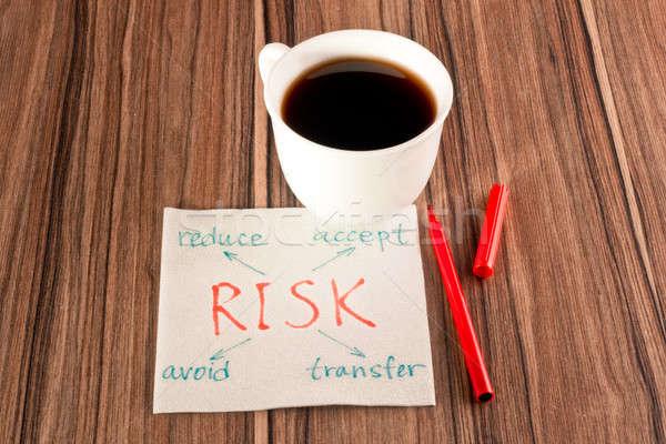 Stock photo: Risk on a napkin