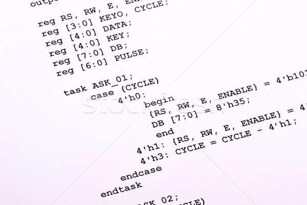 Számítógép program nyomtatott papír technológia nyomtatott Stock fotó © a2bb5s