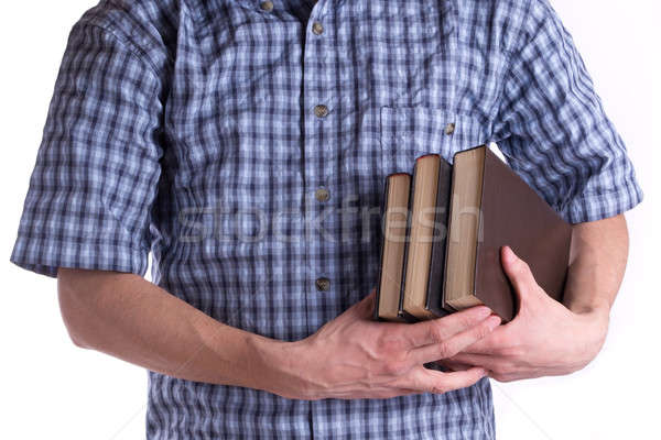 Men's holding a three books Stock photo © a2bb5s