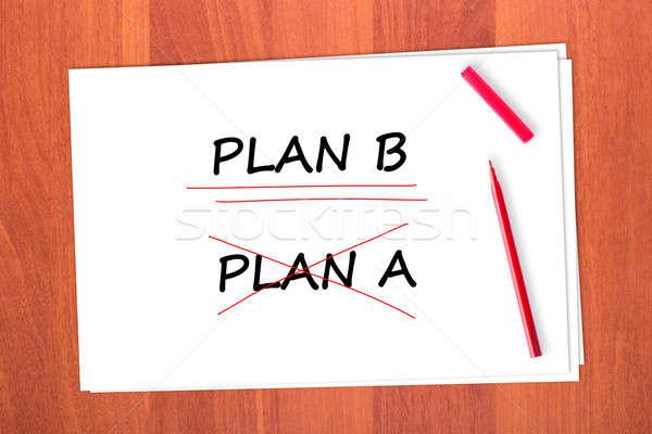 PLAN B Stock photo © a2bb5s