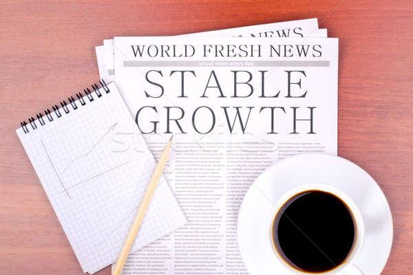 újság istálló növekedés felső kilátás papír Stock fotó © a2bb5s
