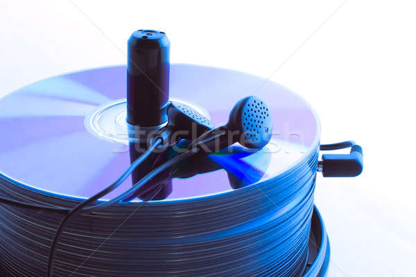 Headphones and  compact discs Stock photo © a2bb5s