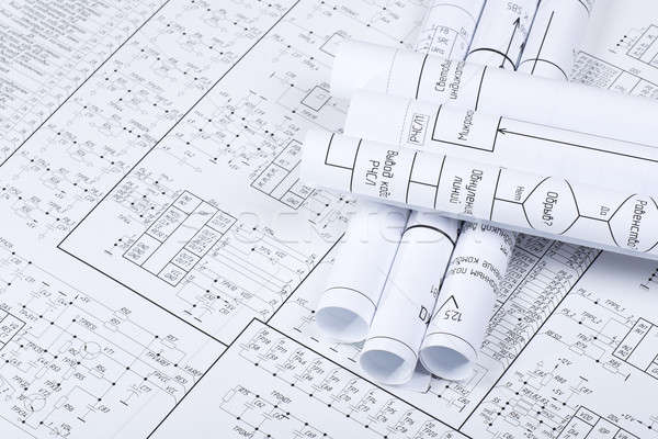 Desenhos tubo projeto indústria ciência Foto stock © a2bb5s