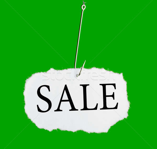 Word SALE on a fishing hook Stock photo © a2bb5s