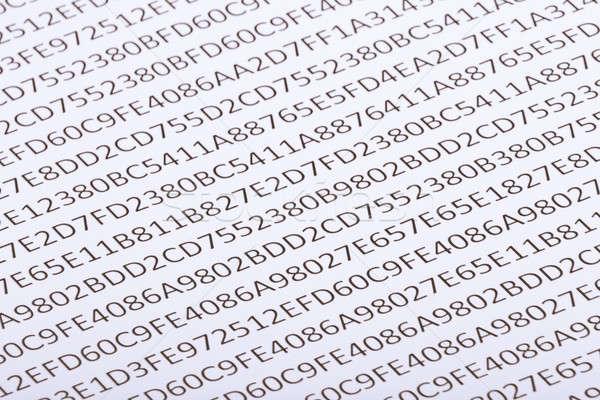 Abstract hexadecimal code Stock photo © a2bb5s