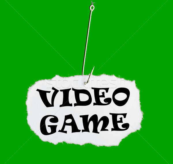 Word VIDEO GAME on a fishing hook Stock photo © a2bb5s