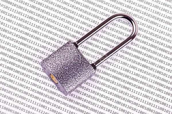 The padlock on the binary code Stock photo © a2bb5s