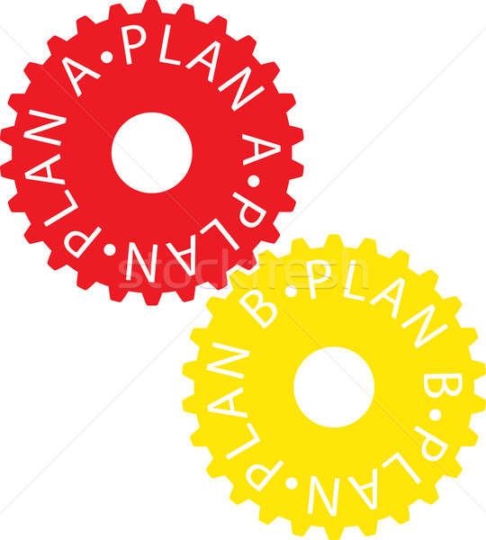 Plan renkli dişli tekerlek teknoloji Stok fotoğraf © a2bb5s