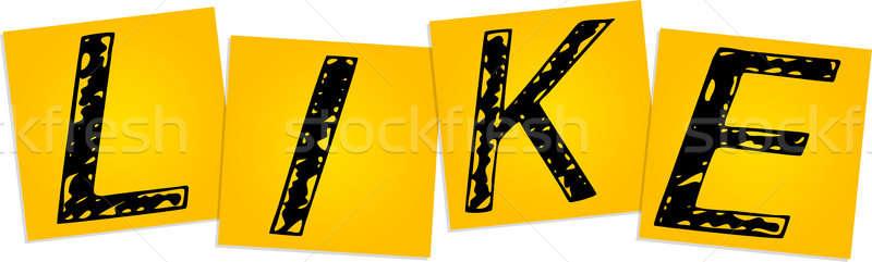 Como amarelo praça adesivos projeto Foto stock © a2bb5s