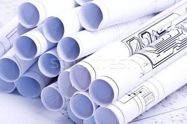Desenho pormenor desenhos tubo projeto Foto stock © a2bb5s