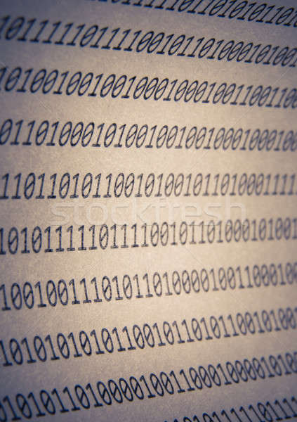 Abstract binary code, vignetting Stock photo © a2bb5s