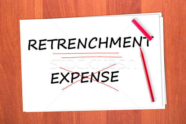 RETRENCHMENT Stock photo © a2bb5s