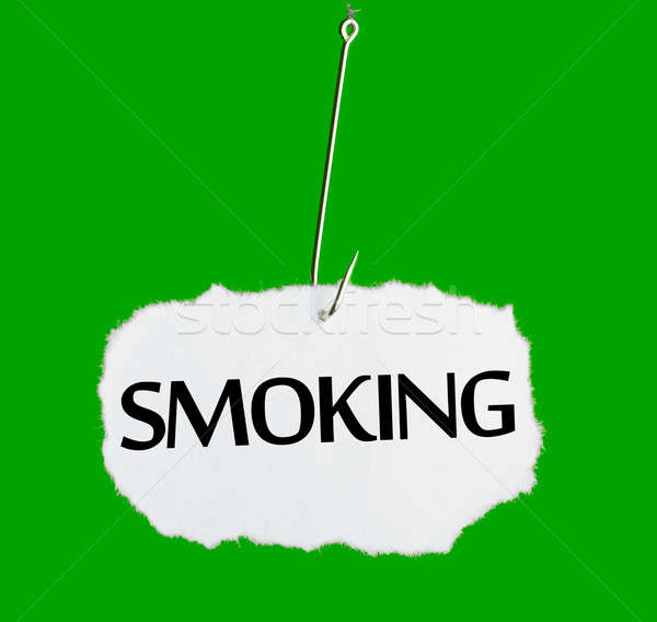 Word SMOKING on a fishing hook Stock photo © a2bb5s