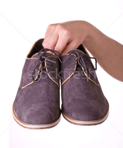 çift ayakkabı erkekler el kadın Stok fotoğraf © a2bb5s