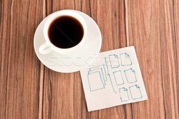 Stock photo: Folders on a napkin