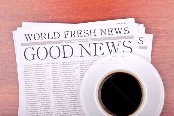 Newspaper GOOD NEWS Stock photo © a2bb5s
