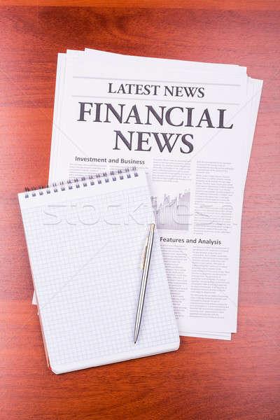 Journal financière nouvelles titre notepad affaires Photo stock © a2bb5s