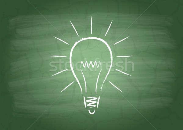 лампы школы доске образование подготовки шаблон Сток-фото © a2bb5s