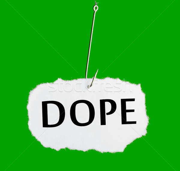 Word DOPE on a fishing hook Stock photo © a2bb5s