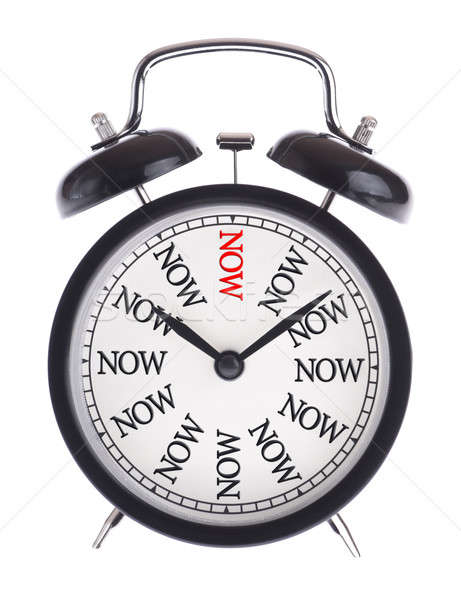 Alarm clock with the word Now Stock photo © a2bb5s