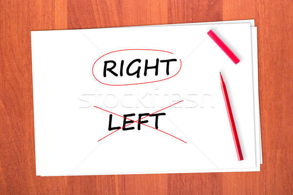 Stock photo: RIGHT