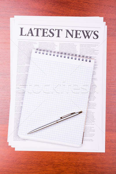 Stock photo: The newspaper LATEST NEWS